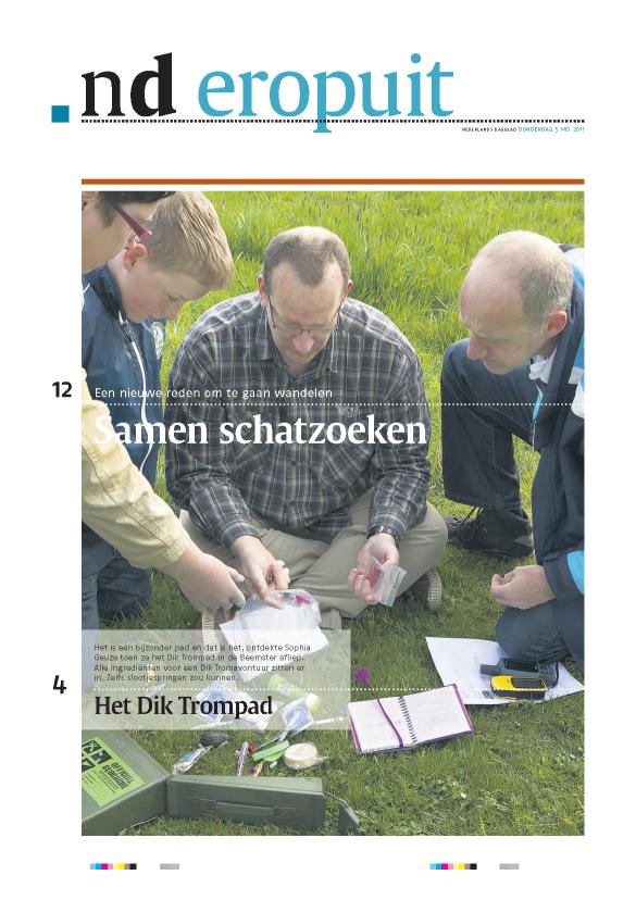 Geocaching in het nederlands dagblad