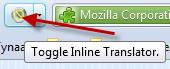 inline translator aan en uit zetten