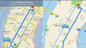 Navigatie Google Maps vs. Apple Maps