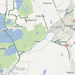 Google Maps fietspaden