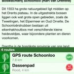 Wandelen voor iOS Routeoverzicht