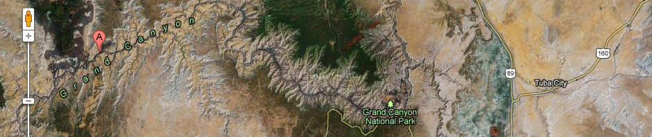 Google Maps Street View geeft je een blik in de Grand Canyon