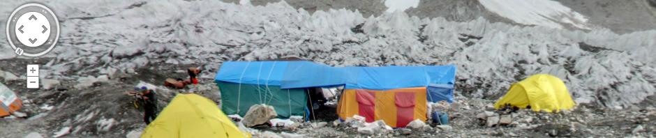 Google Street View Mount Everest Basecamp