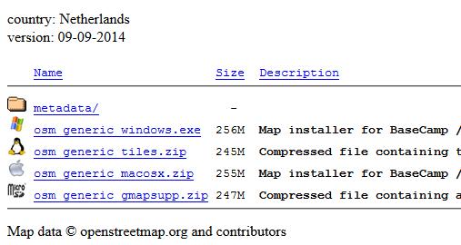 Garmin OpenStreetMap Download Bestanden