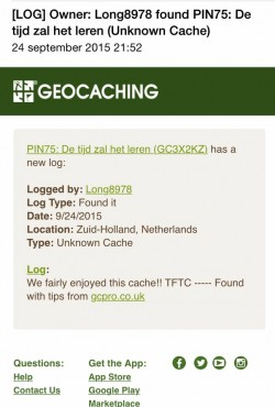Geocaching fake log SPAM
